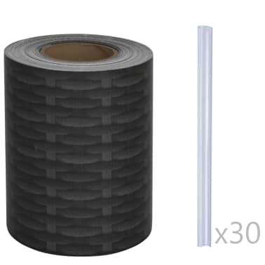 vidaXL PVC Fence Strip Roll 70x0.19 m Rattan[3/4]