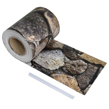 vidaXL kőmintás PVC kerítés tekercs 70 x 0,19 m[1/4]