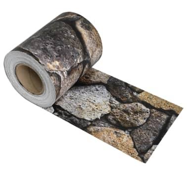 vidaXL kőmintás PVC kerítés tekercs 70 x 0,19 m[2/4]