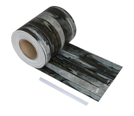 vidaXL PVC Fence Strip Roll 70x0.19 m Stone
