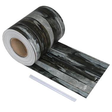 vidaXL Schuttingstrook steenontwerp 70x0,19 m PVC[1/4]