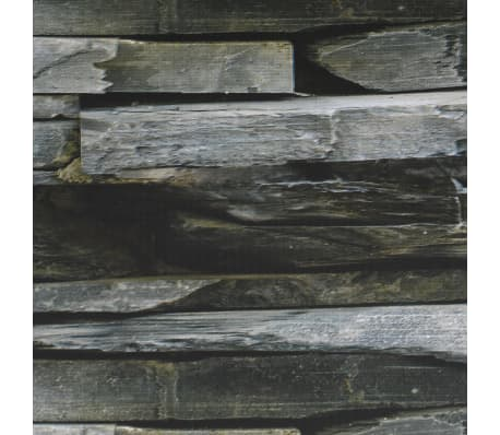 vidaXL Schuttingstrook steenontwerp 70x0,19 m PVC[4/4]