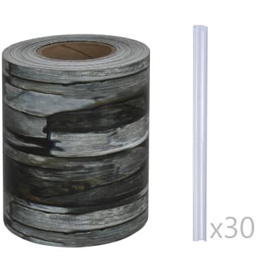 vidaXL Schuttingstrook steenontwerp 70x0,19 m PVC[3/4]