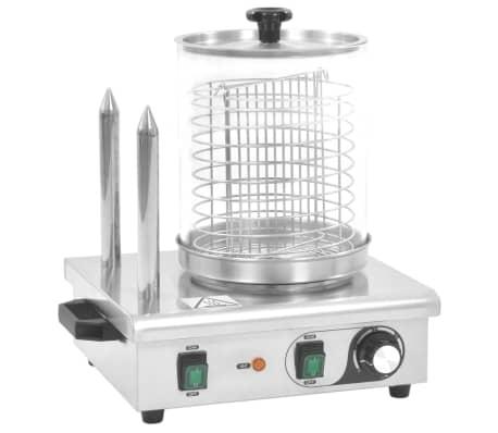 vidaXL Pølsevarmer med 2 stenger rustfritt stål 500 W