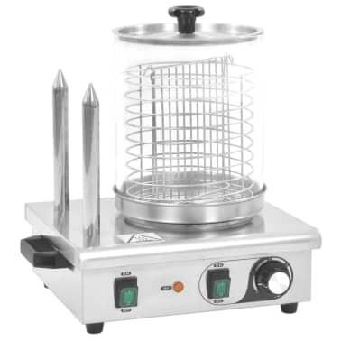vidaXL Pølsevarmer med 2 stenger rustfritt stål 500 W[2/7]