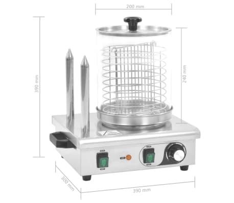 vidaXL Pølsevarmer med 2 stenger rustfritt stål 500 W[7/7]