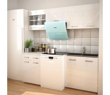 vidaXL Set Completo di Mobili da Cucina Bianco Lucido 200 cm | vidaXL.it
