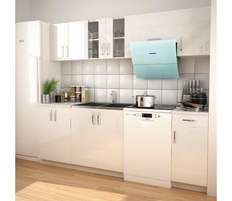vidaXL Set Completo di Mobili da Cucina Bianco Lucido 240 cm | vidaXL.it