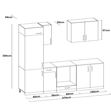 vidaXL Keukenkastenset met afzuigkap 7-delig hoogglans wit[9/9]