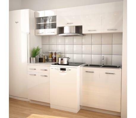 vidaXL Ensemble de placards de cuisine 200 cm Blanc laqué