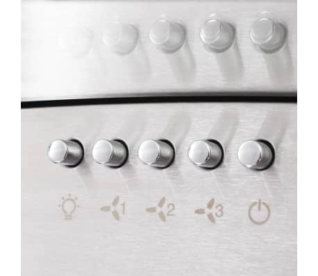 vidaXL 7 delars köksskåp set med köksfläkt högglans vit[6/9]