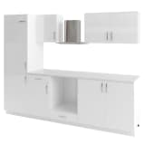 vidaXL 7 Piece Kitchen Cabinet Set with Range Hood High Gloss White
