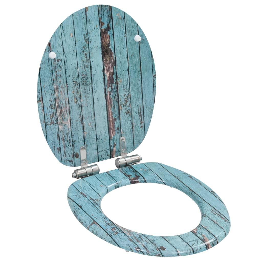 vidaXL Capac WC cu închidere silențioasă, MDF, design lemn vechi imagine vidaxl.ro