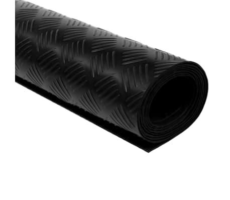 vidaXL Gulvmatte antiskli gummi 1,5x2 m 3 mm rutemønster[2/5]