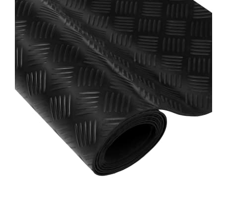 vidaXL Gulvmatte antiskli gummi 1,5x2 m 3 mm rutemønster[4/5]
