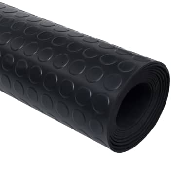 vidaXL skridsikker gulvmåtte gummi 1,5 x 4 m 3 mm prikker[2/5]