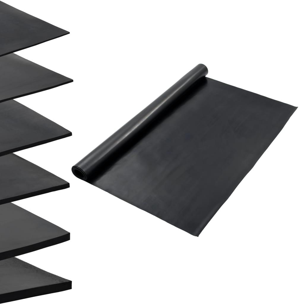 vidaXL Protiskluzová rohož gumová 1,2 x 2 m 1 mm hladká