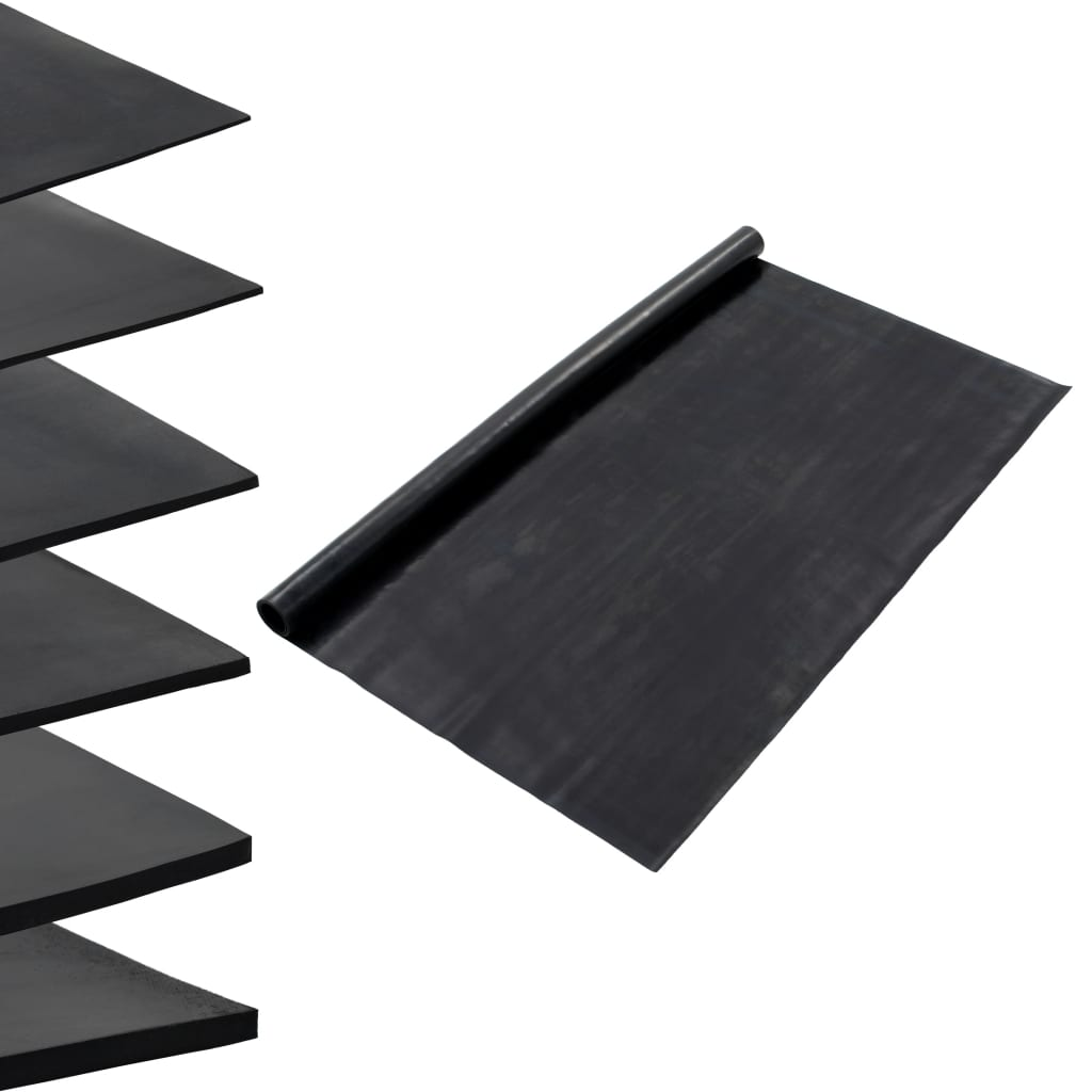 vidaXL Protiskluzová rohož gumová 1,2 x 5 m 1 mm hladká