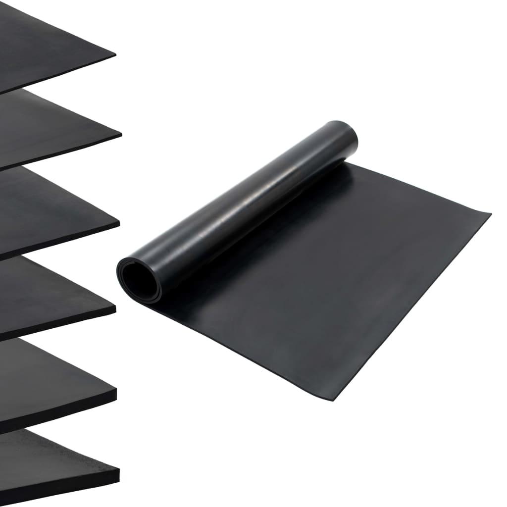vidaXL Covor de cauciuc antiderapant, 1,2 x 2 m, 8 mm, neted