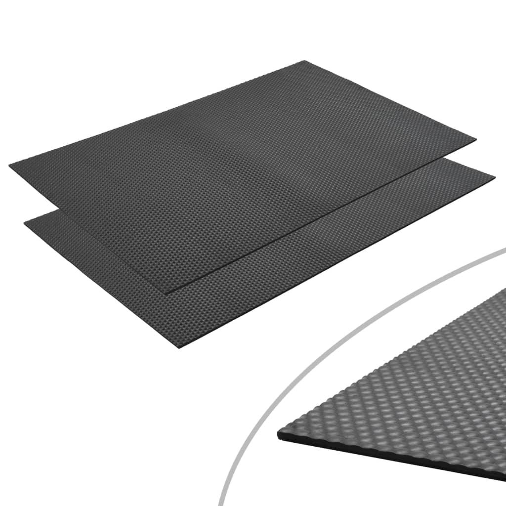 vidaXL Protiskluzové rohože gumové 2 ks 1,2 x 0,8 m 6 mm oblázky
