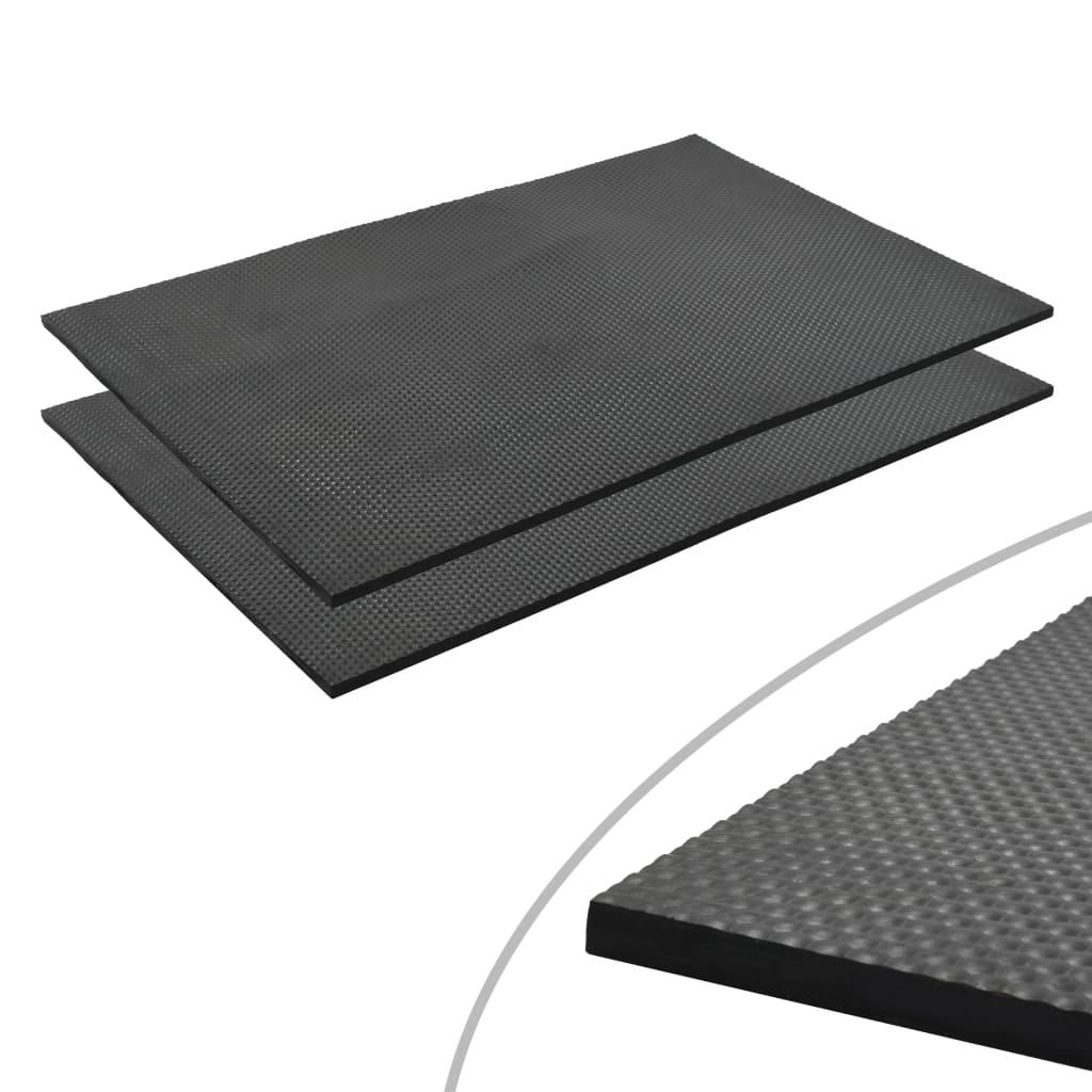 vidaXL Covor antiderapant cai, 1,2 x 0,8 m, cauciuc, 18 mm, pietriș imagine vidaxl.ro