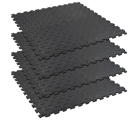 vidaXL Alfombrillas 4 uds goma antideslizante 60x60 cm 12 mm ranurado