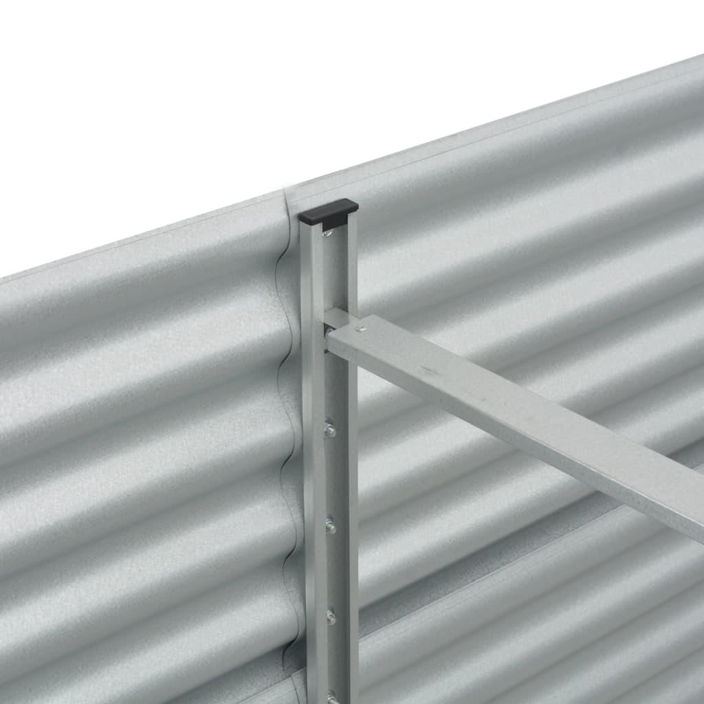 vidaXL Plantenbak verhoogd 240x80x81 cm gegalvaniseerd staal zilver
