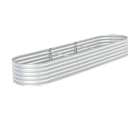 vidaXL Plantenbak verhoogd 320x80x44 cm gegalvaniseerd staal zilver