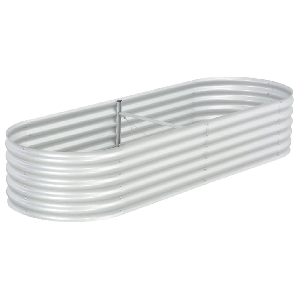 vidaXL Strat înălțat de grădină argintiu 240x80x44 cm oțel galvanizat vidaxl.ro