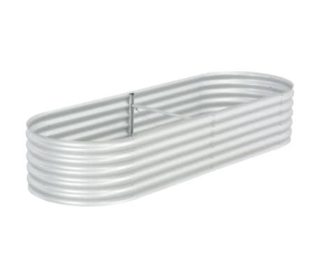 vidaXL Garden Raised Bed 240x80x44 cm Galvanised Steel Silver
