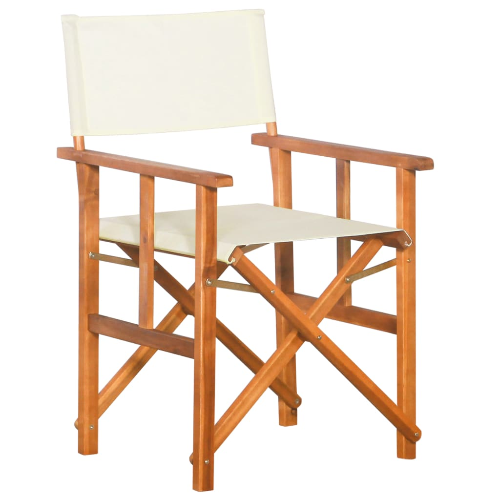 vidaXL Režisérská židle masivní akácie