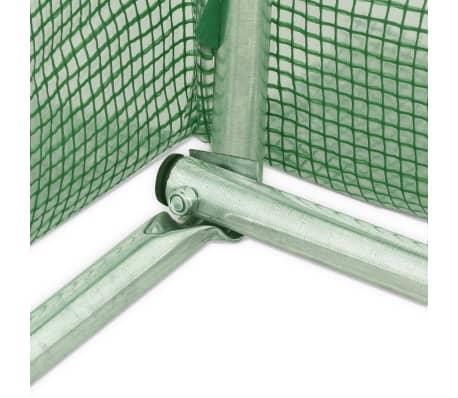 vidaXL Rastlinjak z jeklenim ogrodjem 9m² 300x300x200 cm[11/13]