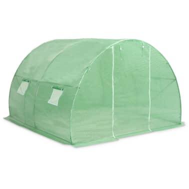vidaXL Rastlinjak z jeklenim ogrodjem 9m² 300x300x200 cm[3/13]