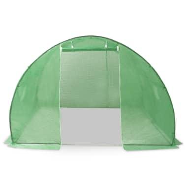 vidaXL Rastlinjak z jeklenim ogrodjem 9m² 300x300x200 cm[6/13]