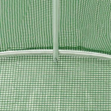 vidaXL Rastlinjak z jeklenim ogrodjem 9m² 300x300x200 cm[9/13]