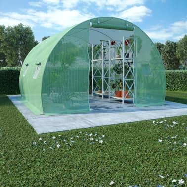 vidaXL Rastlinjak z jeklenim ogrodjem 9m² 300x300x200 cm[1/13]