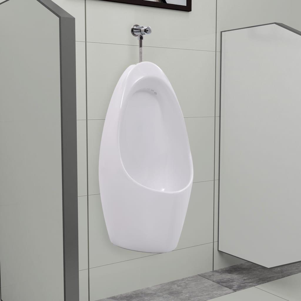 vidaXL Pisoar de perete cu sistem pentru spălare, ceramică vidaxl.ro