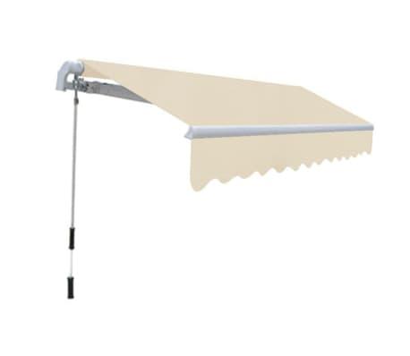 vidaXL Auvent pliable manuel 300 cm Crème[2/6]