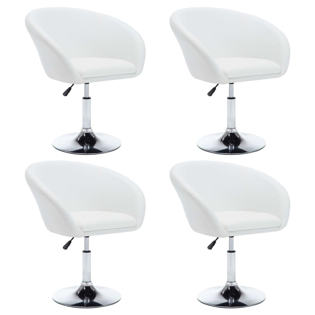 vidaXL Καρέκλες Τραπεζαρίας 4 τεμ. Λευκές 67,5x58,5x87 εκ. Δερματίνη