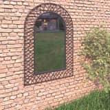 vidaXL Miroir mural de jardin Voûtée 50 x 80 cm Noir