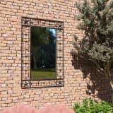 vidaXL Miroir mural de jardin rectangulaire 50 x 80 cm Noir