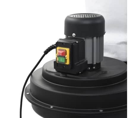 vidaXL Conjunto coletor de pó com adaptador preto 550W[4/9]