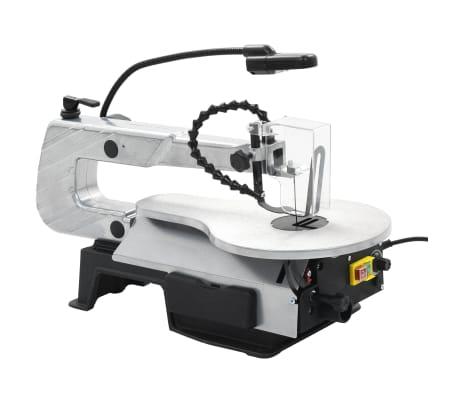 vidaXL Sierra de calar con luz acero profundidad de corte 406 mm