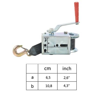 vidaXL Handwinde mit Gurt 540 kg[7/7]