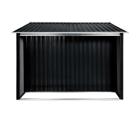 vidaXL Záhradná kôlňa s posuvnými dverami antracitová 329,5x131x178 cm oceľová[5/10]