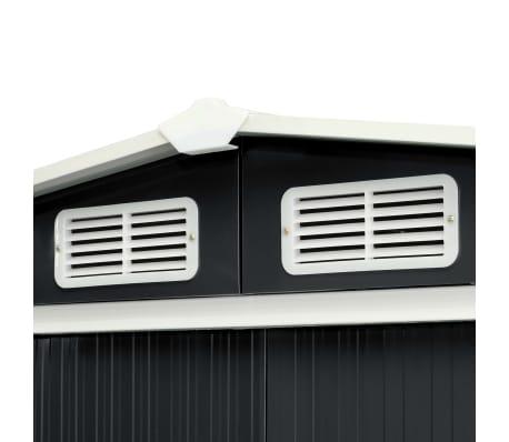 vidaXL Záhradná kôlňa s posuvnými dverami antracitová 329,5x131x178 cm oceľová[6/10]