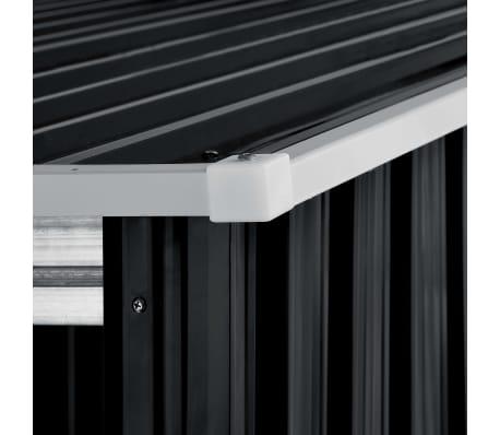 vidaXL Záhradná kôlňa s posuvnými dverami antracitová 329,5x131x178 cm oceľová[7/10]