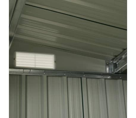 vidaXL Záhradná kôlňa s posuvnými dverami antracitová 329,5x131x178 cm oceľová[9/10]