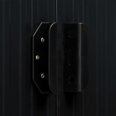 vidaXL Záhradná kôlňa s posuvnými dverami antracitová 329,5x131x178 cm oceľová[8/10]