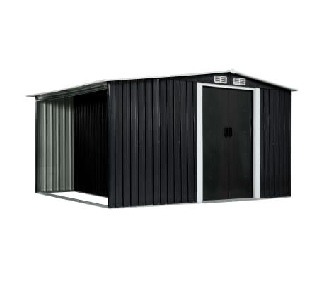 vidaXL Garden Shed with Sliding Doors Anthracite 329.5x205x178 cm Steel